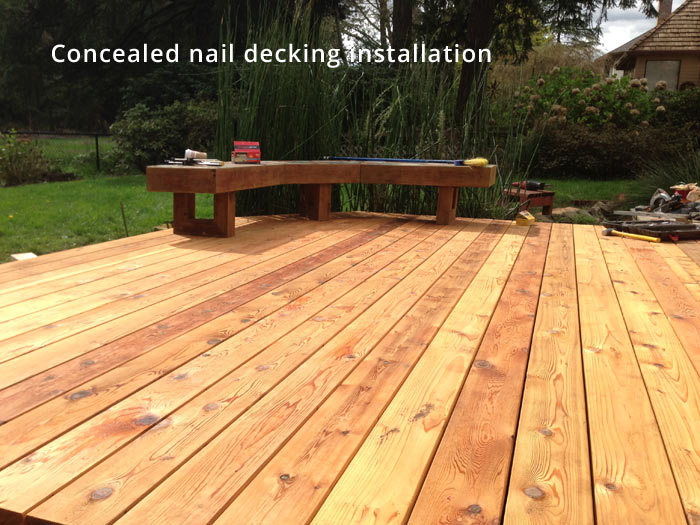 Concealed nail decking